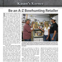Arrowtrade Magazine Article: September 2011, Kasun's Korner