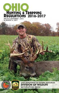 Ohio Hunting & Trapping Regulations 2017 Front Cover